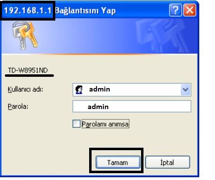 'TP-LINK TD-W8951ND' Modem Kurulumu ve Kablosuz Ayarlar_1