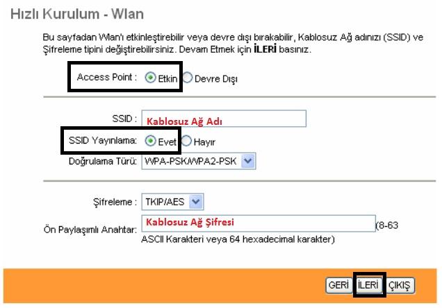 'TP-LINK TD-W8951ND' Modem Kurulumu ve Kablosuz Ayarlar_6