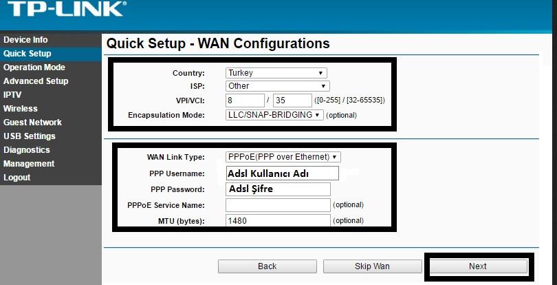 'TP-LINK TD-W8968' Modem Kurulumu ve Kablosuz Ayarlar_5