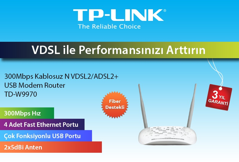 'TP-LINK TD-W9970' Modem Kurulumu ve Kablosuz Ayarlar (Resimli Anlatım)