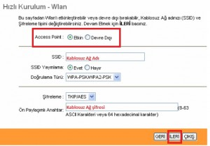 'TP-Link TD-W8961ND' Modem Kurulumu ve Kablosuz Ayarlar_6